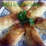 recette Brikcs au thon et à la ricotta