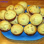recette Muffins à la rhubarbe