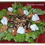recette Salade de Poulet et légumes en chaud/froid