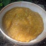 recette compote de brugnons, pommes, épice badiane moulue.