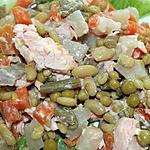 recette Pavés de saumon à la macédoine maison et....