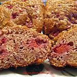 Muffins léger aux framboises