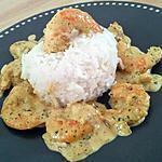 recette Sautés de crevettes au lait de coco et curry