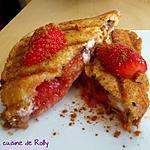 recette Croque sucré fraise, nougat, speculoos