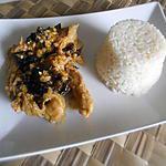 recette Poulet marinée au champignons noir et amandes
