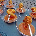 recette Crevettes panées aux curly cacahouètes et sauce ketchup maison pour l'apéritif
