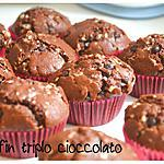 recette Muffin triple chocolat