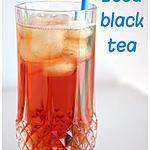 recette Iced black tea (thé glacé à l'américaine)