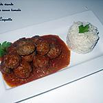 recette Boulette de viande en sauce rouge