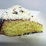 recette gâteau au lait concentré à la noix de coco.