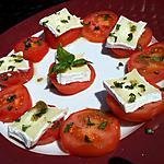 recette Salade de tomates au chévre et au basilic