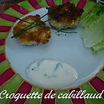 recette CROQUETTES DE CABILLAUD