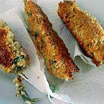recette BROCHETTES  DE  MOULES  PANEES
