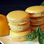 recette Macarons citron basilic