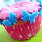 recette cupcakes au nutella et décor en pâte à sucre (papillon)