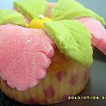 recette cupcakes au nutella et pâte à sucre (fleur)
