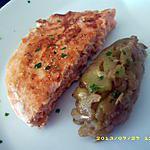 recette demi médaillon de saumon, écrasé de courgette (diététique)