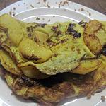 recette omelette sucré aux lamelles de pomme.