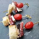 Brochettes aperitives campagnarde