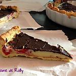 recette Tarte framboise, chocolat blanc et couche craquante chocolat noir
