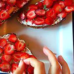 recette Tartine de fraises