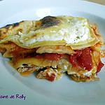 recette Lasagnes tomate, courgette et crème de chèvre