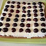 recette tarte génoise aux cerises fraiches