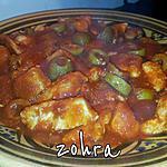 recette emincé de poulet en sauce tomate epicé olive
