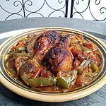 recette poulet aux epices et poivron tomate