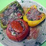 recette Tomates et poivrons farcis.