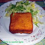 recette Croque madame au saumon fumé