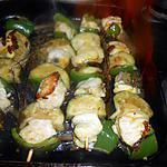 recette Brochette de lotte aux poivron et aubergine