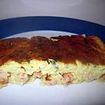recette Clafoutis aux crevettes roses et à la ciboulette.