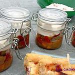 recette Verrines aux trois poivrons et chèvre frais