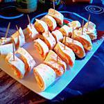 recette Roulés chevre frais- saumon