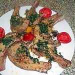 recette Cotes d agneau parmesan et persillade