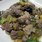 recette Sauté de veau au trio de légumes du soleil.