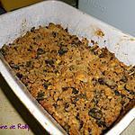 recette Crumble figolu, mirabelles, quetsches et figues séchées