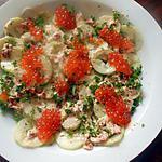 recette concombre aux oeufs de saumon