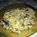 recette Pates à l'omelette sardinée