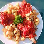 recette Cote de porc concassé de tomates au cidre