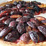 recette Tarte Quetsches / Rhubarbe