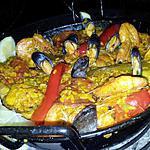recette Paella au feu de bois