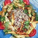 recette Emincé de dinde a l oriental et riz 3 couleurs