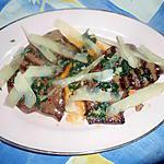 recette Foie de genisse,grillé persillade et parmesan