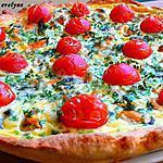 recette Quiche aux tomates cerise et moules au roquefort