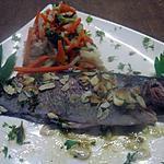 recette truites saumonées aux amandes effilées.