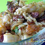 recette poelée de calamars à l'ail et au chorizo