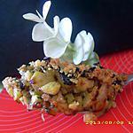 courgettes poelées au crumble d'olives noires