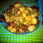 recette Tajine poulet olive-amandes grillés